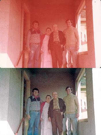 Photo-restoration-remove-red-colour-tinge