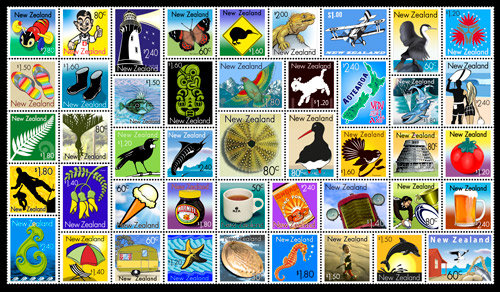 kiwiana-art-stamp-sheet